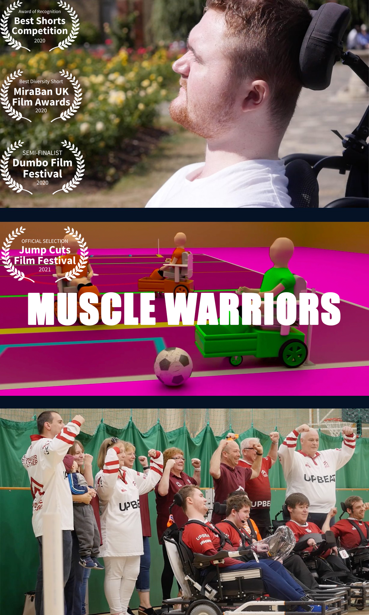 Muscle Warriors poster featuring Ryan O'Leary